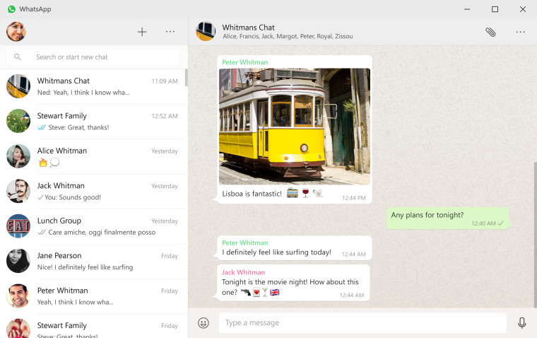 WhatsApp para PC ahora en Windows Store